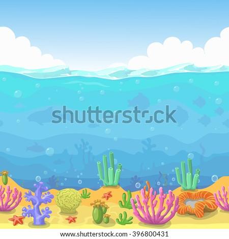 seamless underwater landscape