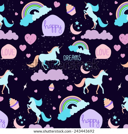 seamless unicorn pattern