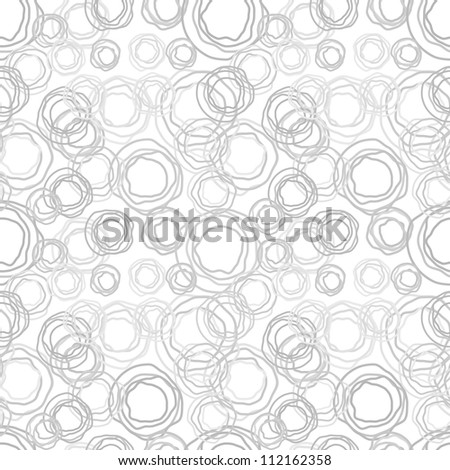 Seamless vector abstract texture - gray jagged rings - stock vector