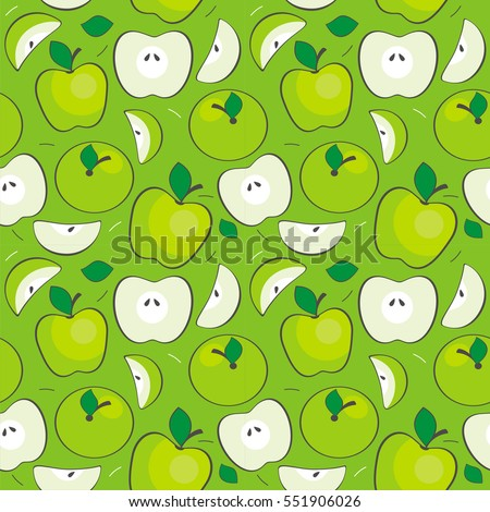 seamless vector apples pattern
