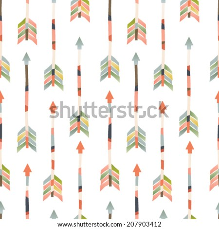 Seamless vector arrows pattern