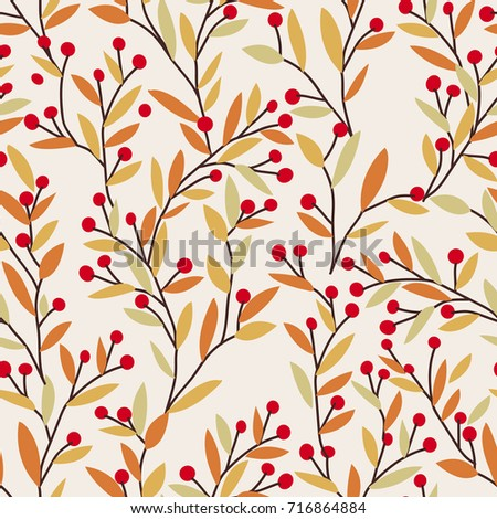 seamless vector autumn pattern