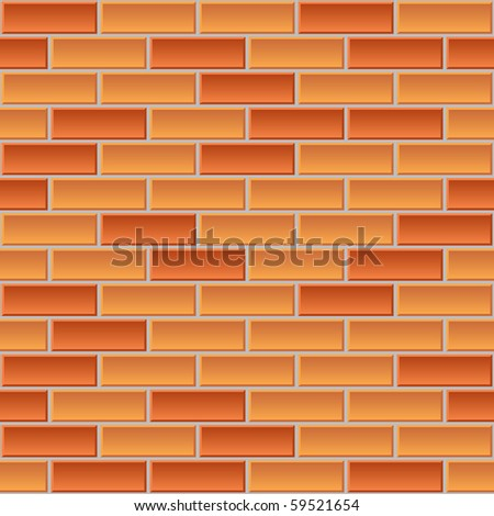 seamless vector background of the brick wall