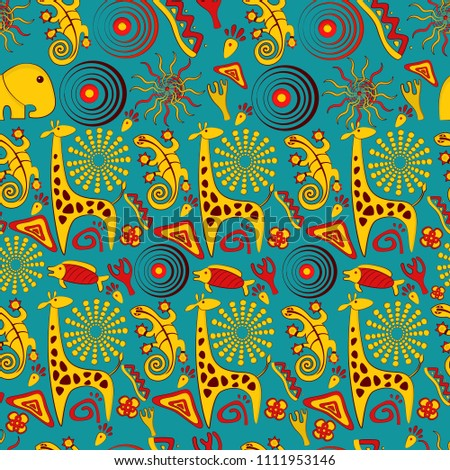 Seamless vector background on an African theme