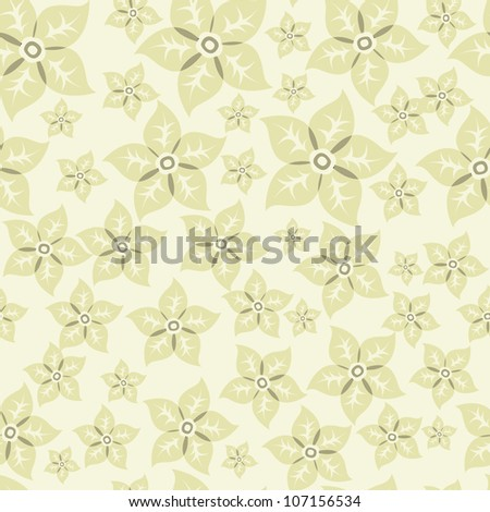 Seamless vector background with flowers