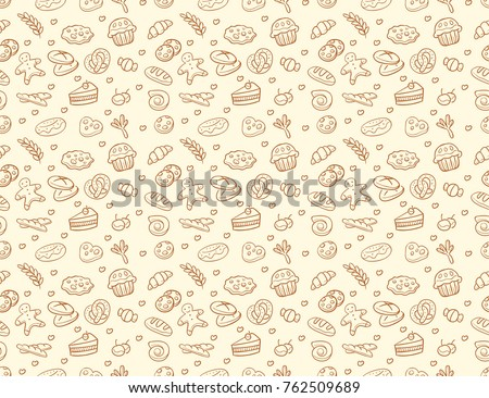 seamless vector bakery   pastry