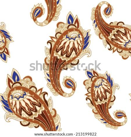 seamless vector batik ethnic vintage pattern