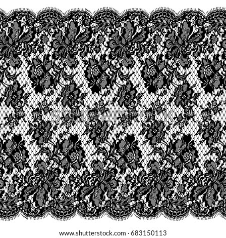 Seamless Vector Black Lace
