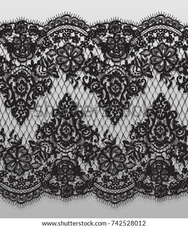 seamless vector black lace...