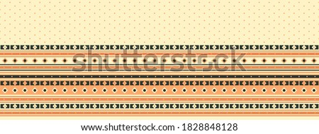 Seamless vector border in ethnic style. Geometric ornament. Decorative strip for textiles.