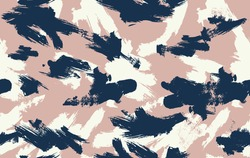 Seamless vector brushstroke camouflage pattern