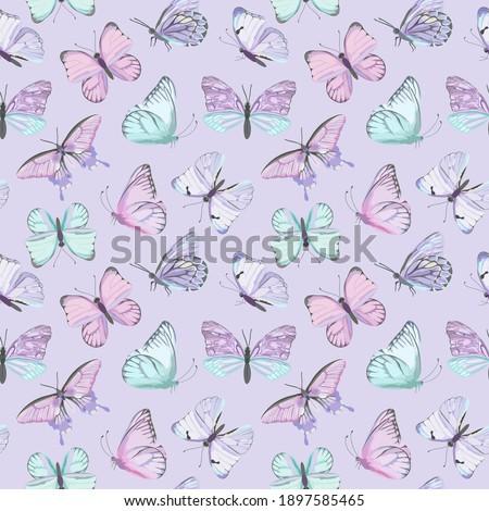 seamless vector butterfly