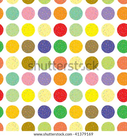 Seamless Vector Candies - stock vector