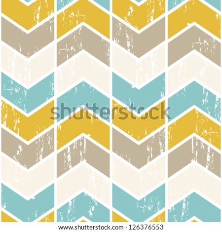 Seamless vector chevron pattern. Scratched chevron background.