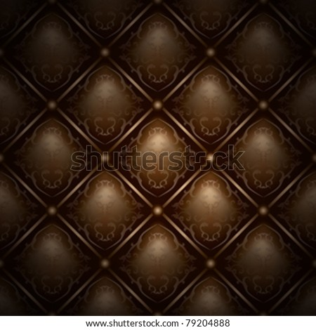 Seamless vector chocolate background chester pattern wrap