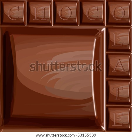 Seamless vector chocolate chunk. Fills only. Big chunk, small chunks and letters are in separated layers for easy editing. Included swatch with chunk without letters. Ideal location for your logo.