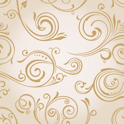 Seamless vector curves wallpaper. Vintage background pattern