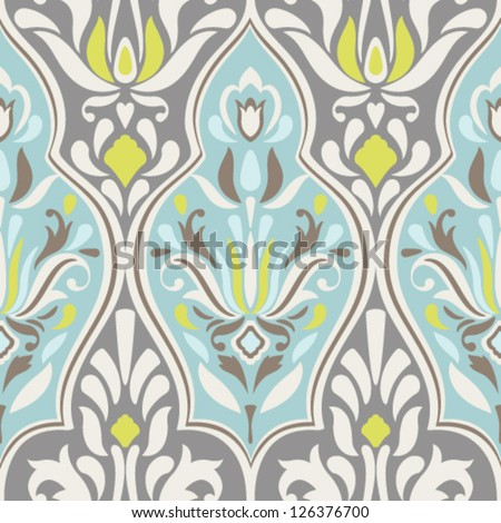 seamless vector damask pattern
