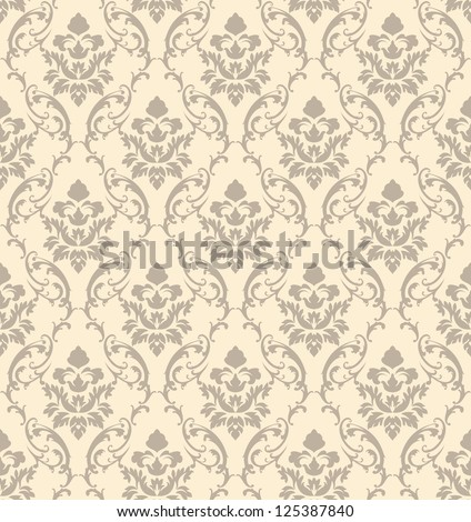 Seamless vector damask pattern. For easy making seamless pattern just drag all group into swatches bar, and use it for filling any contours.