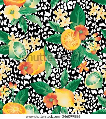 seamless vector elegant floral
