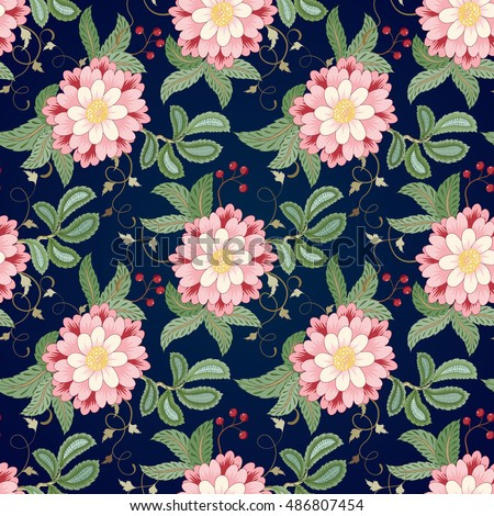 seamless vector floral