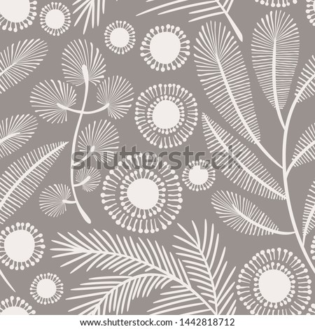Seamless vector floral pattern. Delicate  botanical background ストックフォト ©