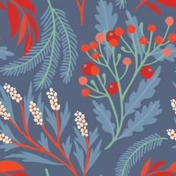 Seamless vector floral pattern. Vibrant botanical background