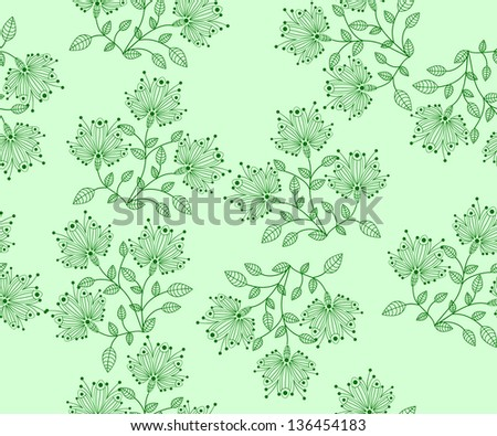 seamless vector flower pattern abstraction background