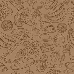 Seamless vector food pattern