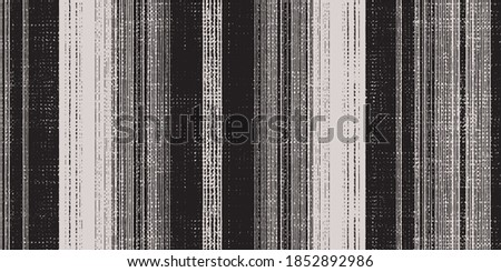 Seamless vector french stripe pattern. Provence  woven texture. Shabby chic style weave stitch background. . Textile rustic all over print