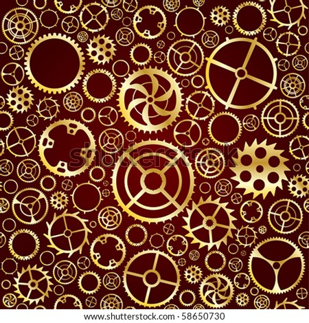 Seamless vector gear and cogwheel background