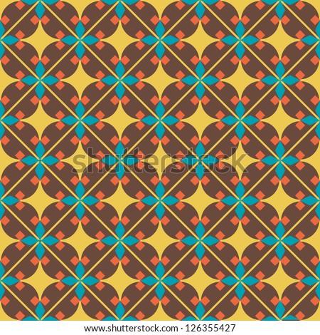 Seamless vector geometric Ethnic pattern background