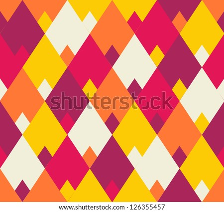 Seamless vector geometric rhombus color pattern background