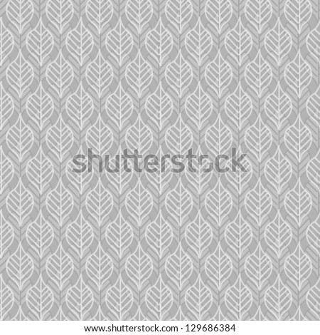Seamless vector grunge leaves background.
