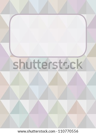 Seamless vector harlequin background with a place for text