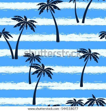 stock-vector-seamless-vector-illustrations-silhouette-of-palm-trees-a-set-of-blue-abstract-trees-on-a-blue