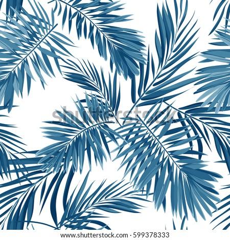 seamless vector indigo blue