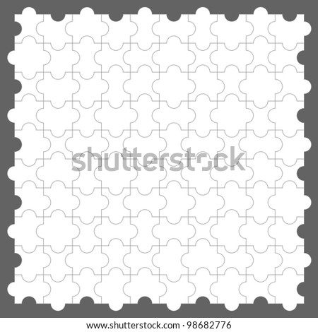 Seamless vector jigsaw puzzle background
