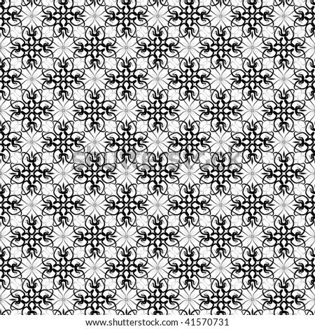 Seamless vector lace ornament wallpaper