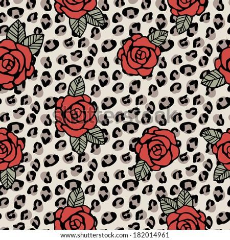 seamless vector leopard pattern