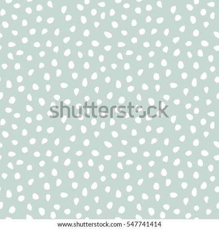 Seamless vector light blue and white background with random elements. Tileable ornament. Dotted abstract pattern