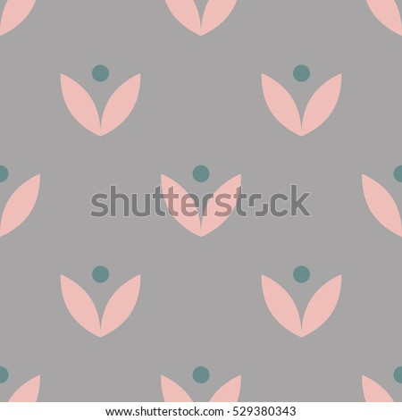 Seamless vector natural pattern with simple vintage design. Perfect for wrapping paper, wallpaper, repeating elements, vintage design, notebook cover.