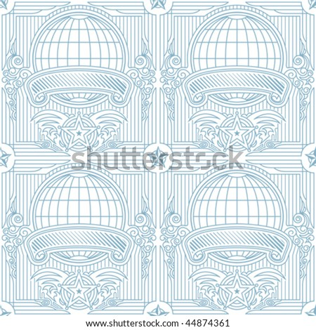 Seamless vector of global background. Vector layered. - stock vector