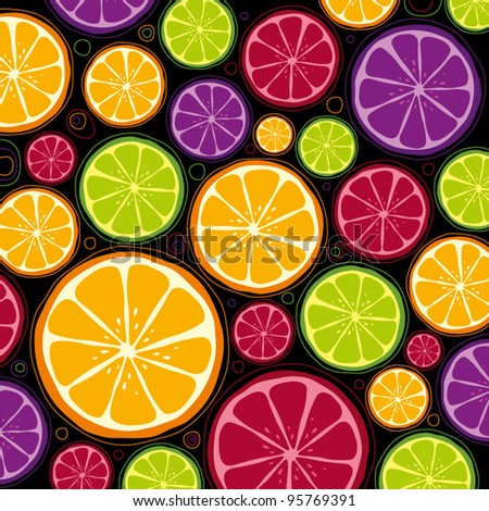 seamless vector of orange pattern and background