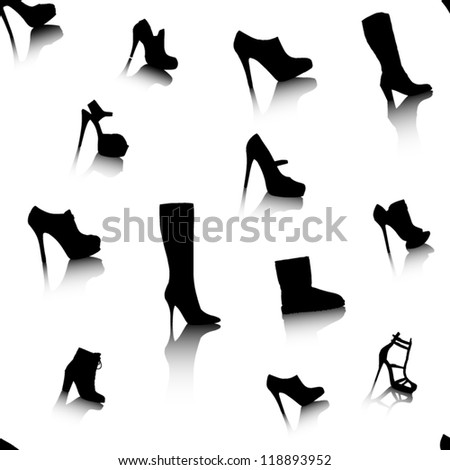 Seamless Vector of Womens Shoes
