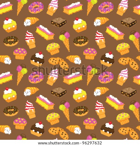 seamless vector pastry cake