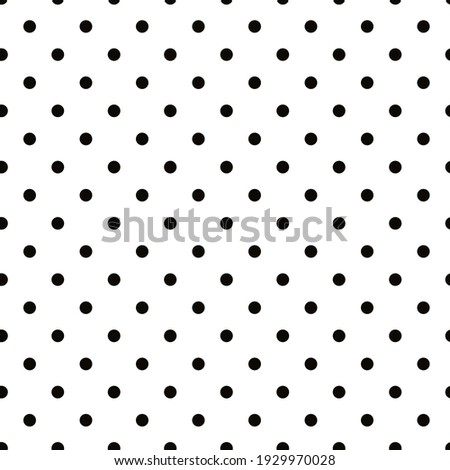 Seamless vector pattern black  polka dots on a white background.Abstract background. Decorative print.