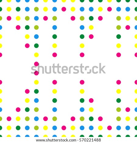 Seamless vector pattern. Circles