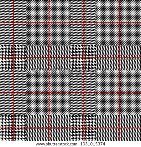 Seamless vector pattern. Classic Glen Plaid pattern.