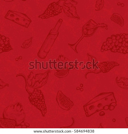 seamless vector pattern drawing